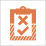 Impact evaluation pictogram for areas of work webpage