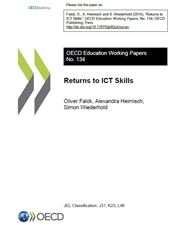 PIAAC WKP 134 Returns to ICT Skills (Cover page)
