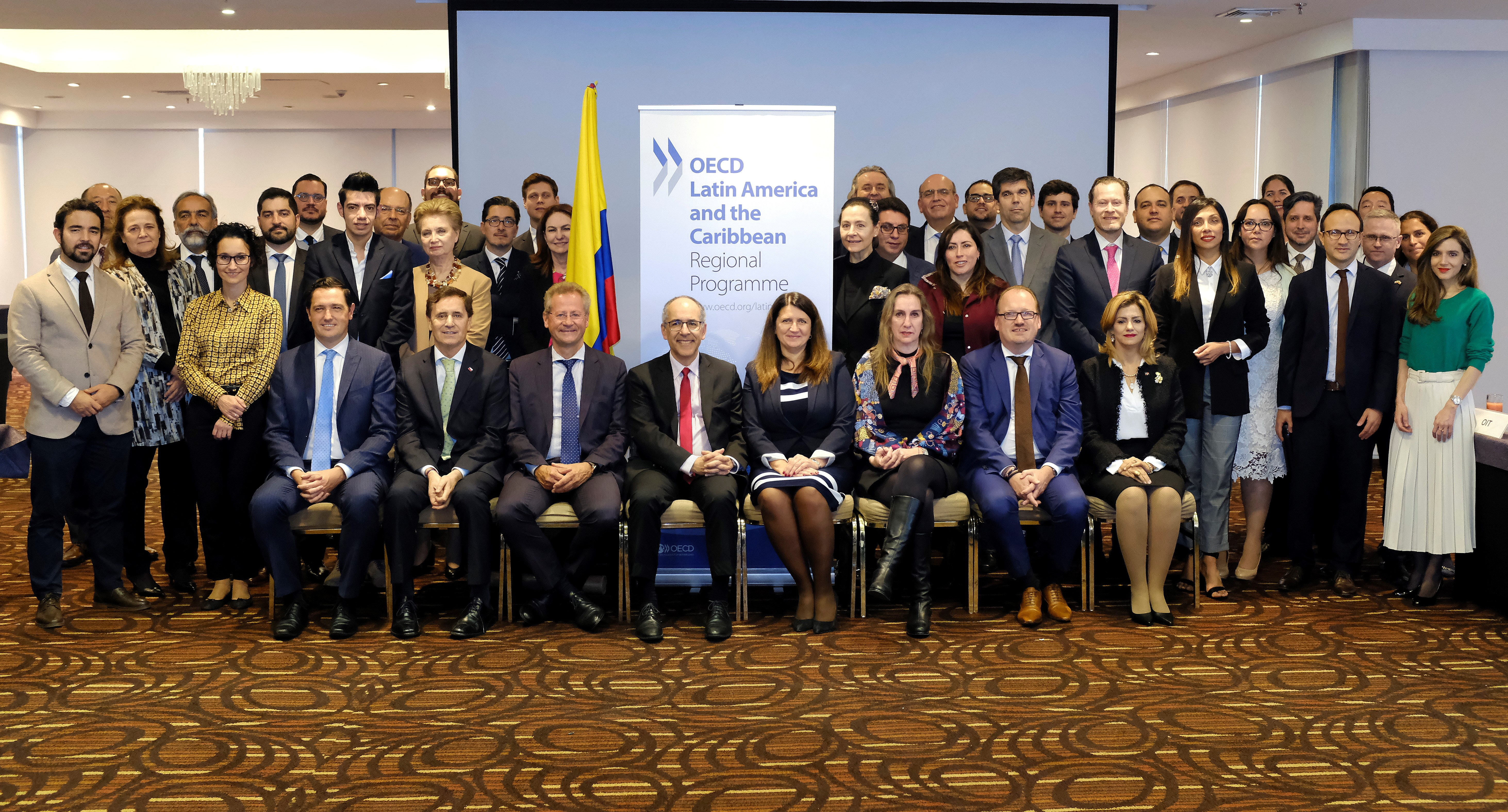 OECD LAC Regional Programme Family photo during the 9th Steering Group Meeting 2019, in Bogota Colombia
