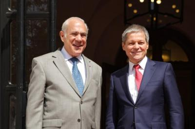 Angel Gurría, Secretary-General of the OECD and Dacian Ciolos, Prime Minister of Romania