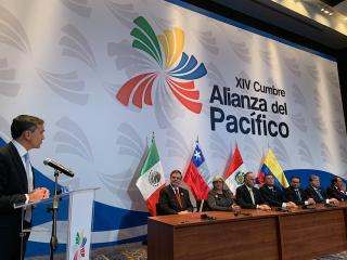 Juan Yermo, Deputy Chief of Staff to the Secretary-General of the OECD, makes an intervention at the XIV Pacific Alliance Summit – Lima, Peru July 2019.