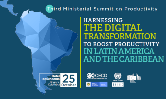 Flyer of the Third LACRP Ministerial Summit of Productivity: Harnessing the Digital Transformation to Boost Productivity in Latin America and the Caribbean